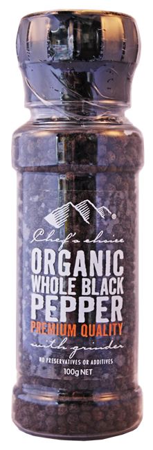 Picture of CHEFS ORGANIC WHOLE BLACK PEPPER