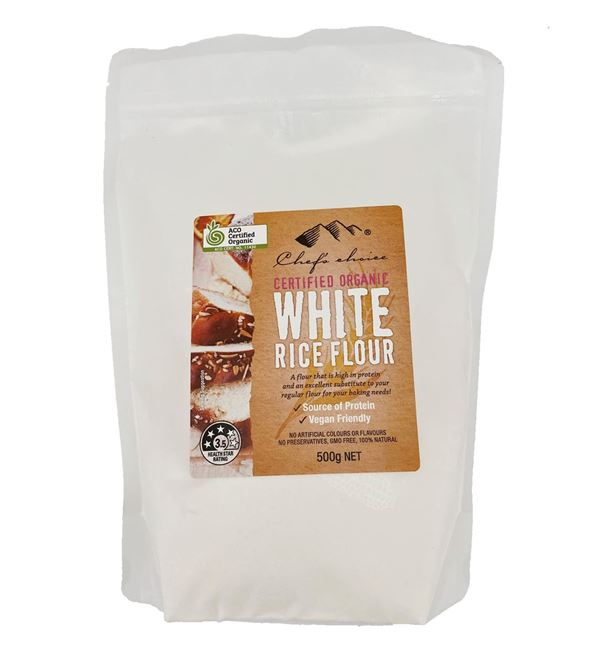 Picture of CHEFS ORGANIC WHITE RICE FLOUR 500g