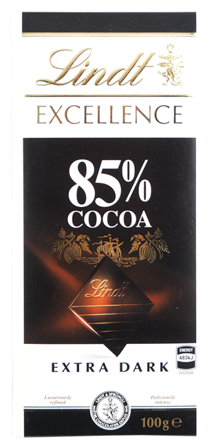 Picture of LINDT 85% COCOA CHOCOLATE