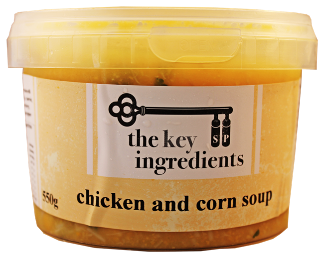 Picture of KEY INGREDIENTS CHICKEN & CORN SOUP
