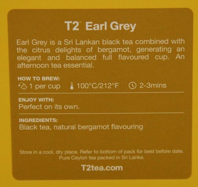 Picture of TEA - T2 EARL GREY BAGS