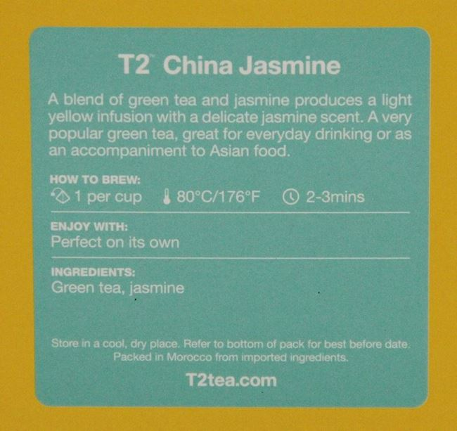 Picture of TEA - T2 CHINA JASMINE BAGS