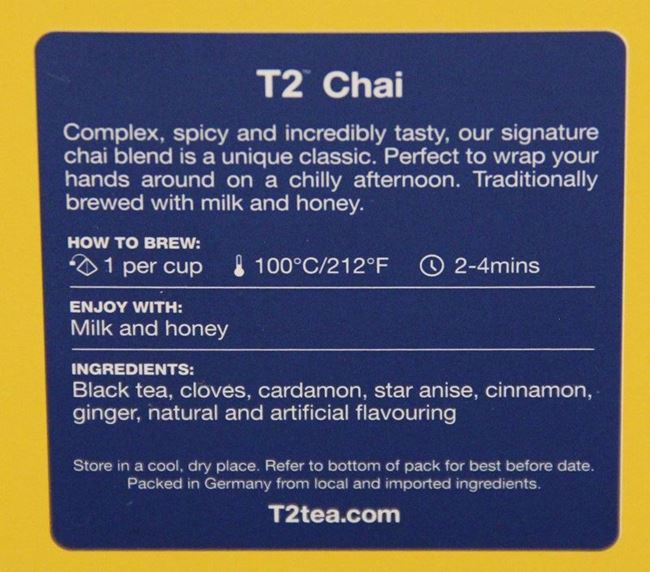 Picture of TEA - T2 CHAI BAGS