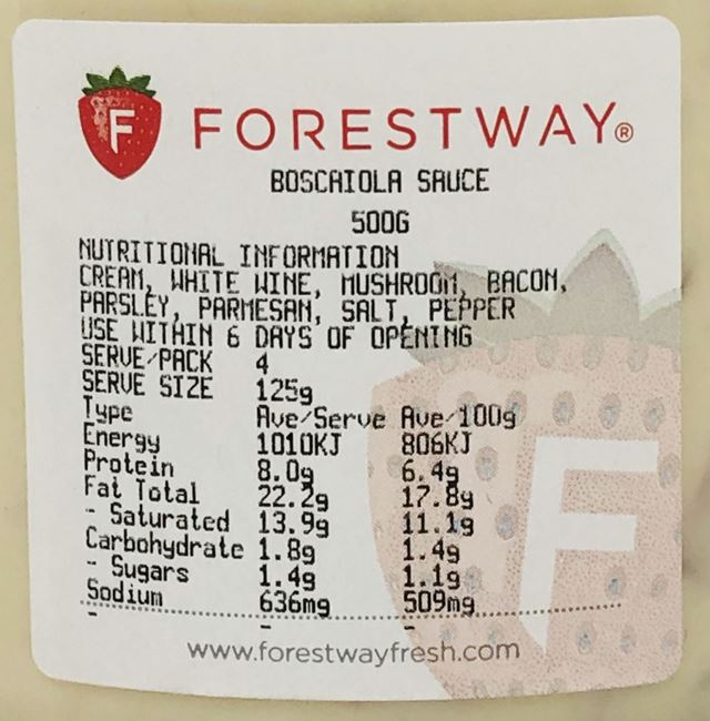 Picture of FORESTWAY BOSCAIOLA SAUCE
