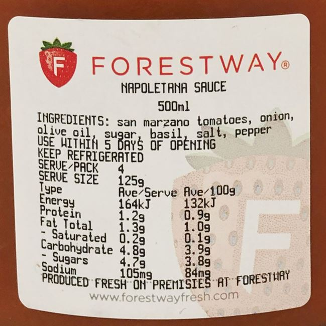Picture of FORESTWAY NAPOLETANA SAUCE