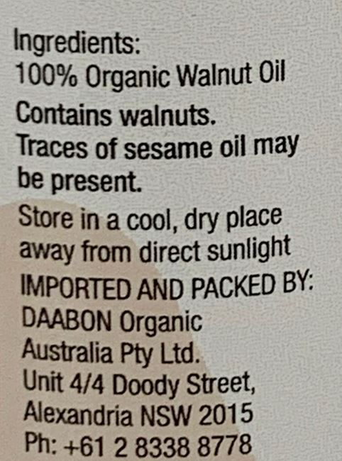 Picture of ORGANIC MOUNTIAN WALNUT OIL