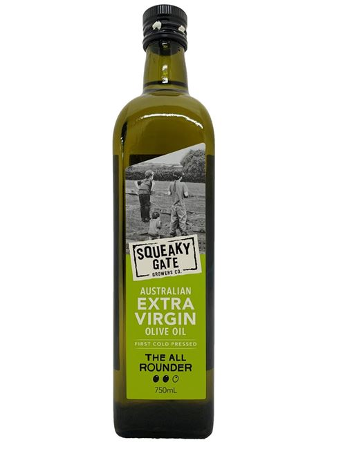 Picture of SQUEAKY GATE ALL ROUNDER EXTRA VIRGIN OLIVE OIL 750mL