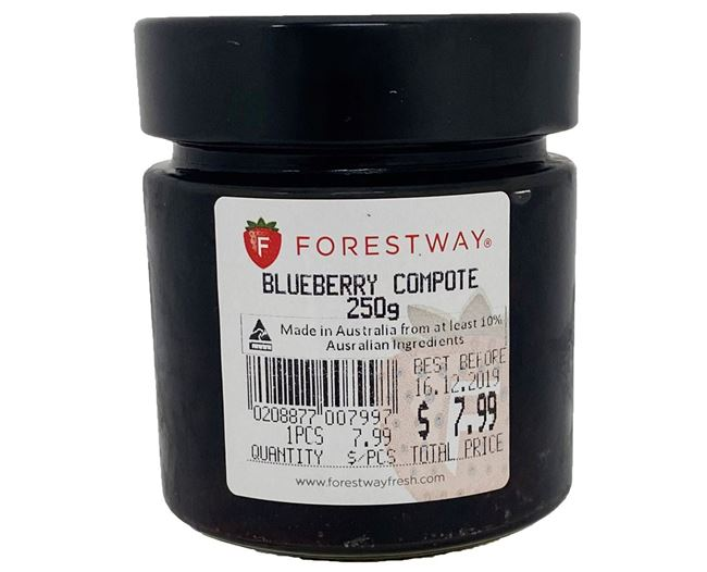 Picture of FORESTWAY BLUEBERRY COMPOTE 250g
