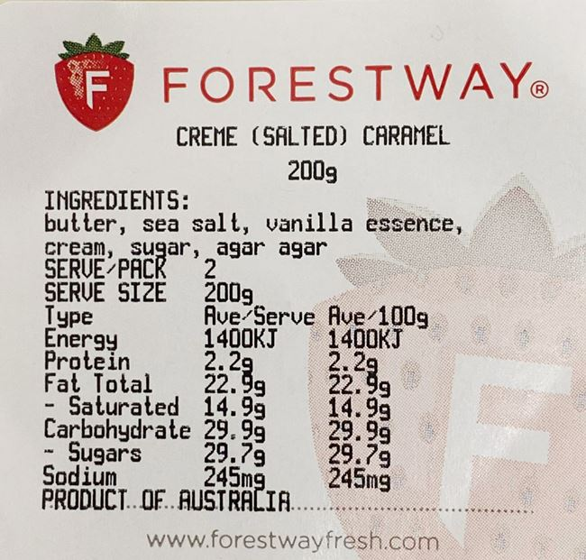 Picture of FORESTWAY CREME (SALTED) CARAMEL