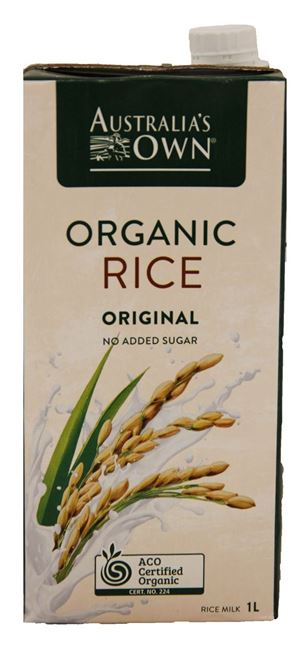 Picture of AUSTRALIAS OWN ORGANIC RICE MILK CARTON