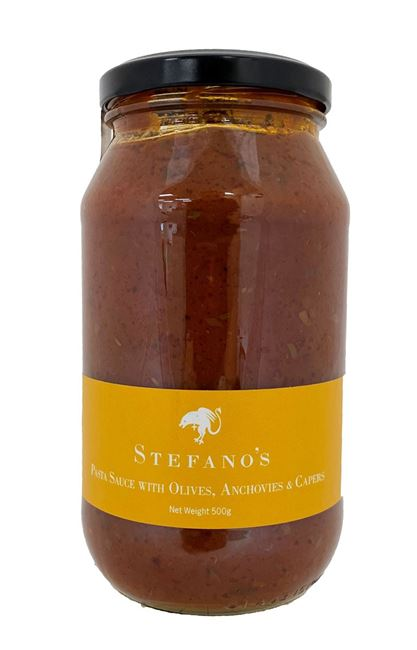 Picture of STEFANO'S OLIVE, ANCHOVY & CAPER PASTA SAUCE