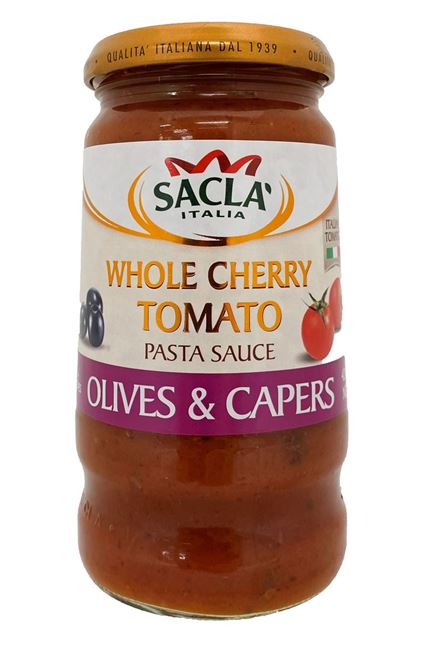 Picture of SACLA CHERRY TOMATO OLIVES & CAPERS PASTA SAUCE