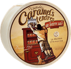 Picture of SALTED CARAMELS ROUND WOOD BOX 50g