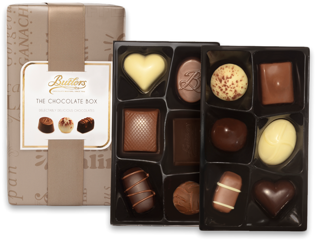 Picture of BUTLERS CHOCOLATE BOX SMALL 160G