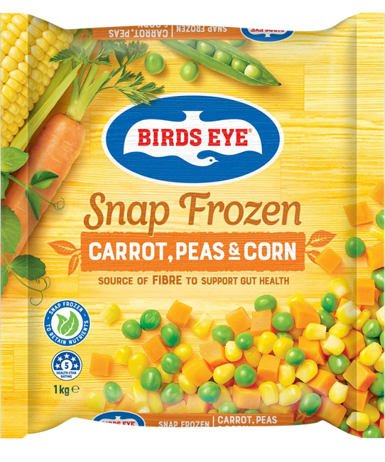 Picture of BIRDS EYE COUNTRY HARVEST CARROT, PEAS & CORN