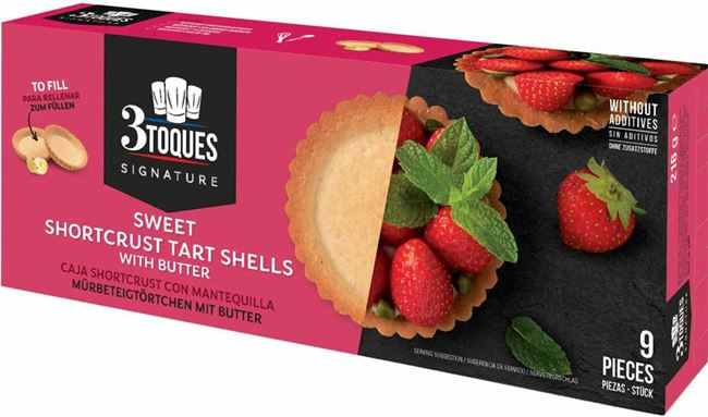Picture of 3 TOQUES SWEET SHORTCRUST TART SHELLS 216G